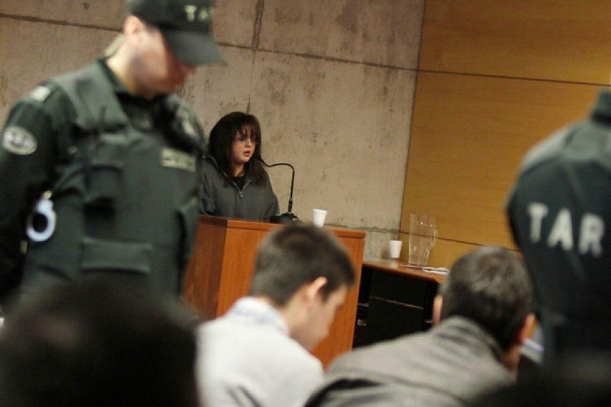 Katherine Perroni declaró como testigo, durante el cuarto día de juicio oral en el centro de justicia en contra de los cuatro imputados por la golpiza a Daniel Zamudio. Imagen Por: