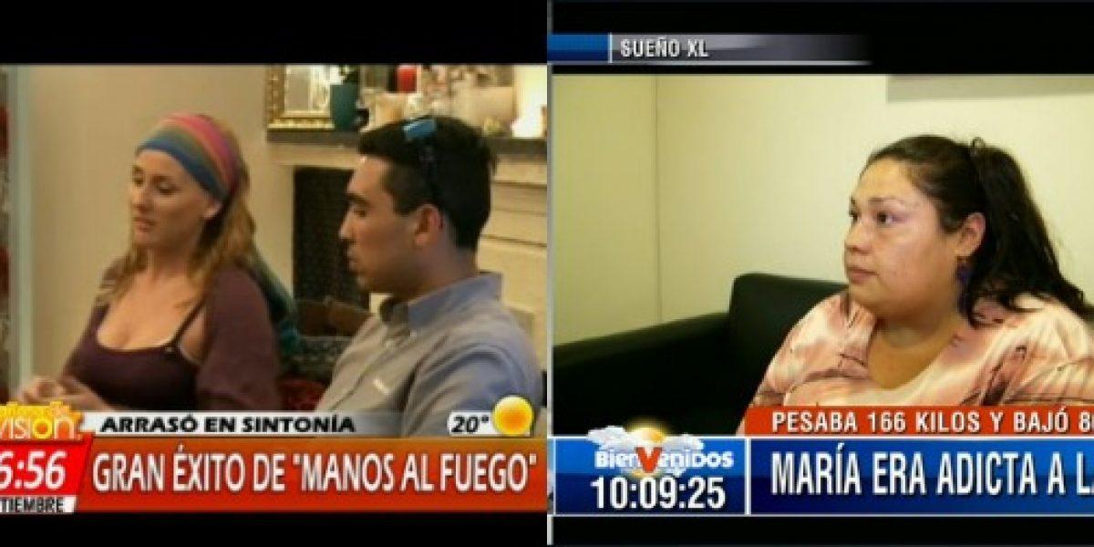 CHV y Canal 13 aprovechan sus éxitos nocturnos y los repiten en matinales