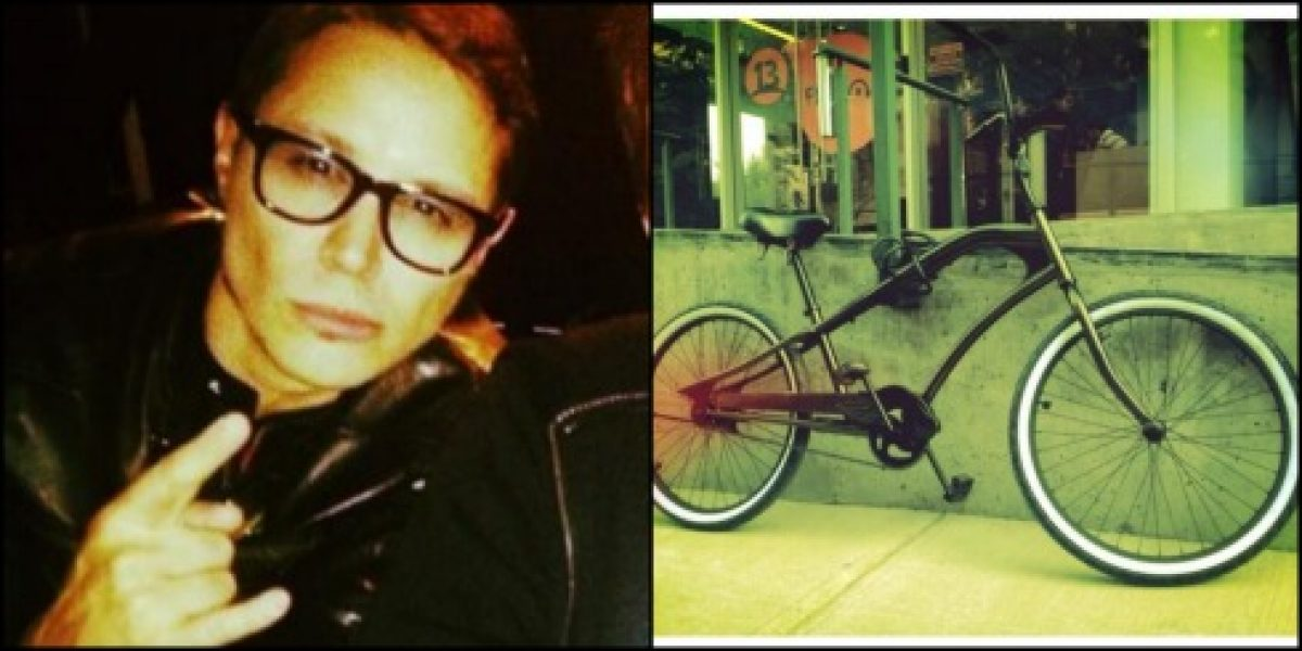 A Alfredo Lewin le robaron la bicicleta y manda el siguiente mensaje