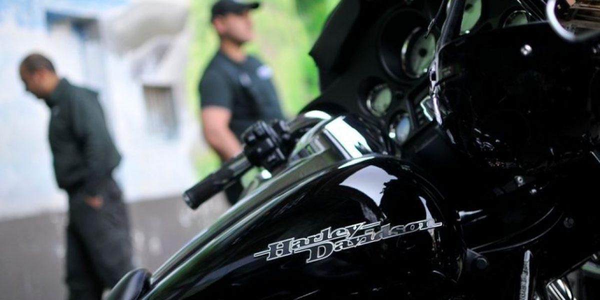 [FOTOS] Motoqueros de Harley Davidson sorprendieron en la cárcel Santiago Sur