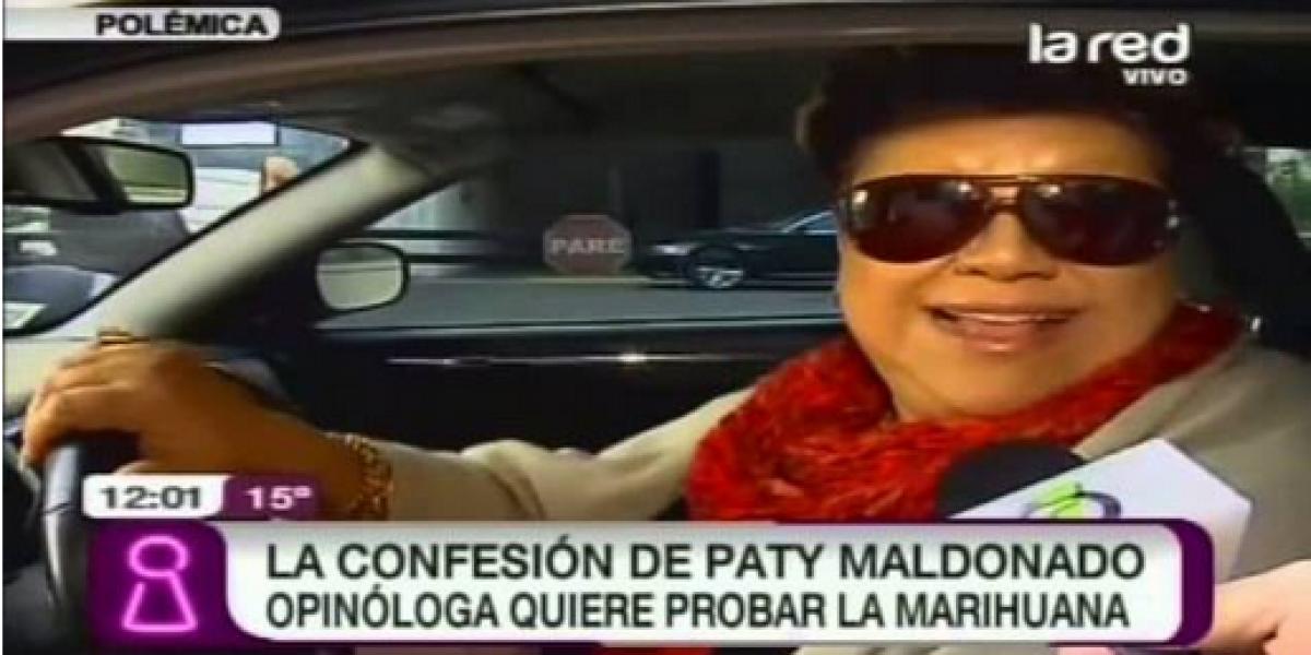 Patricia Maldonado sorprende al declarar que quiere probar la marihuana