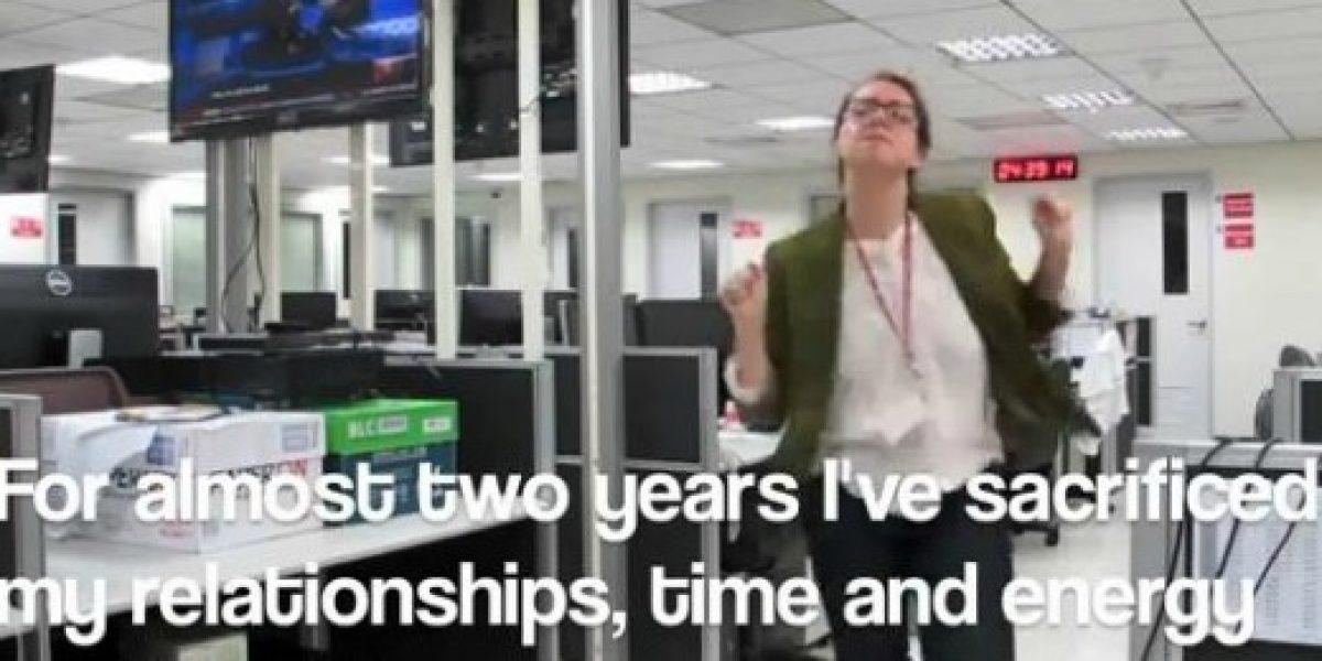 Video: una especial forma de renunciar