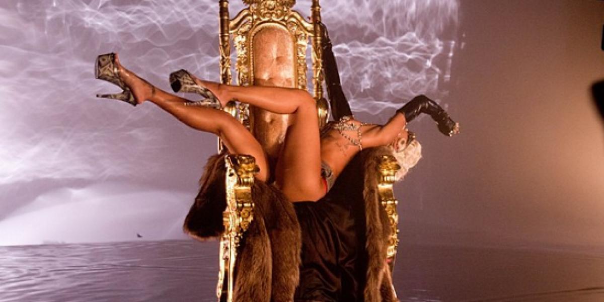 Rihanna comparte parte de la grabación de su nuevo video