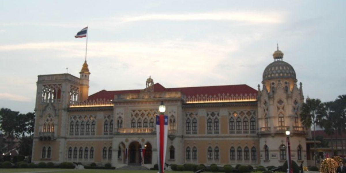 En este palacio Piñera firmó el TLC con Tailandia