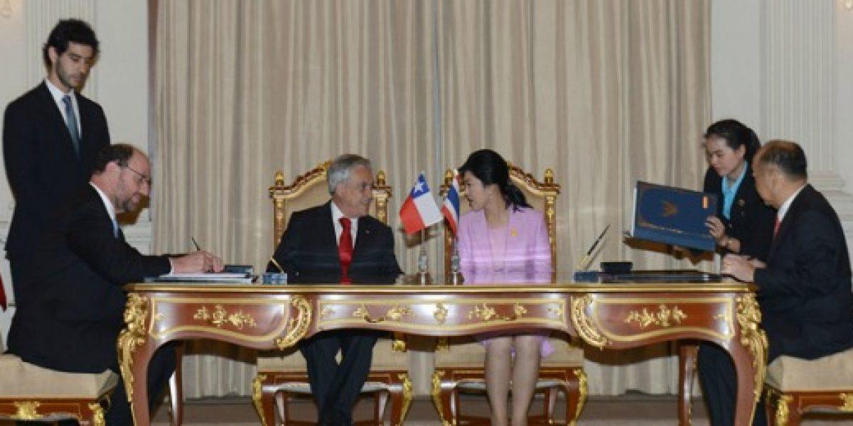 Chile y Tailandia concretan tratado de libre comercio