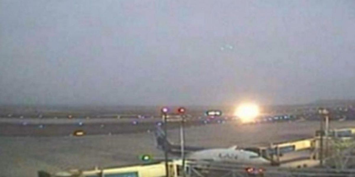 [FOTOS] F-16 realiza aterrizaje de emergencia en aeropuerto de Antofagasta: Piloto resulta ileso
