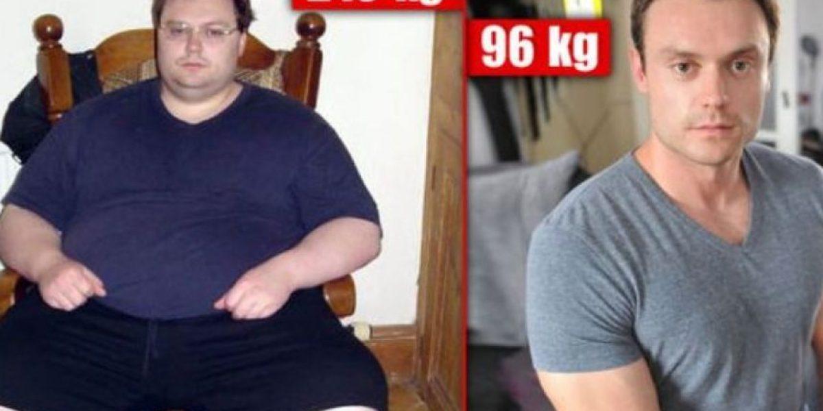 Fotos: Impresionante transformación de hombre que perdió 114 kilos