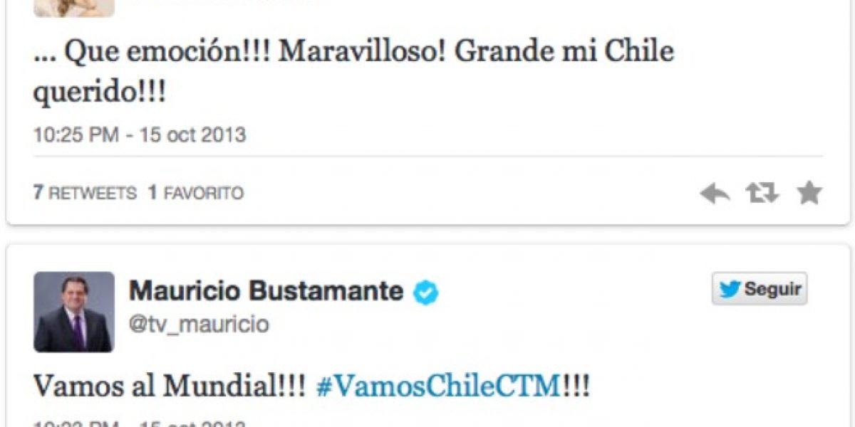 Así reaccionaron los famosos con la clasificación de Chile al Mundial