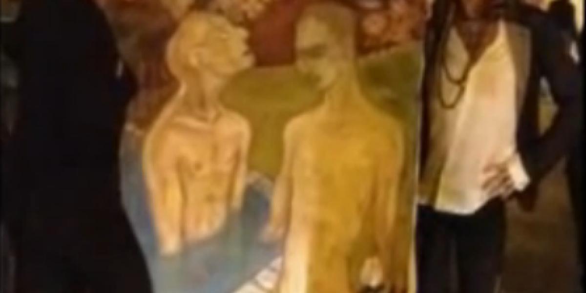 Video de Steven Tayler rescatando una pintura de un basurero sorprende a fanáticos