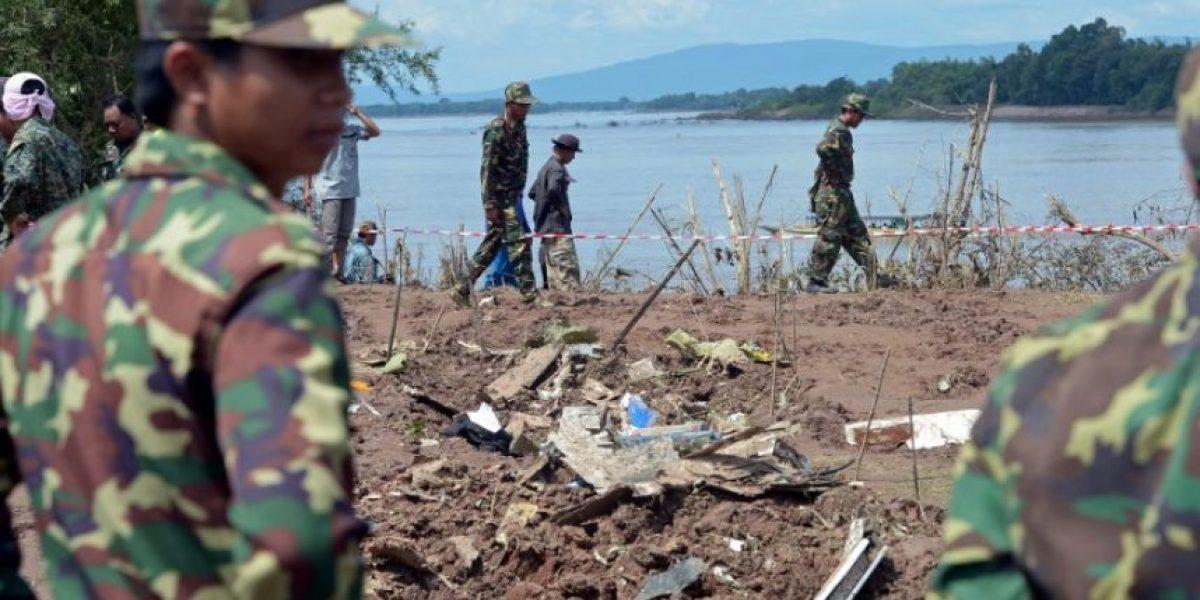 FOTOS: Continúa la búsqueda de cadáveres tras el trágico accidente aéreo en Laos