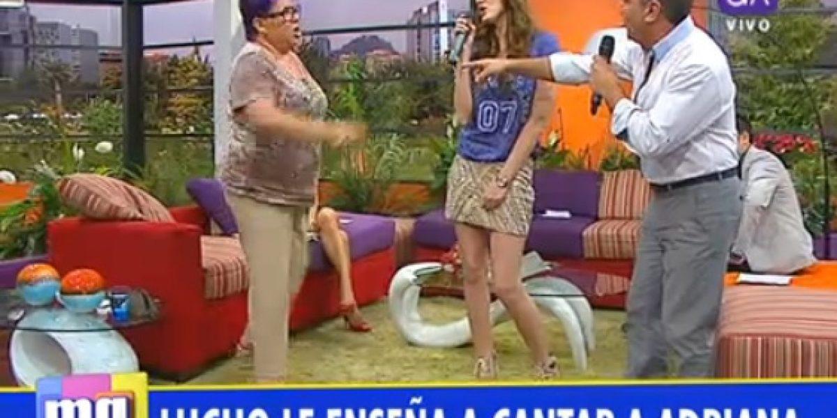 Luis Jara y Paty Maldonado intentaron enseñarle a cantar a Adriana Barrientos