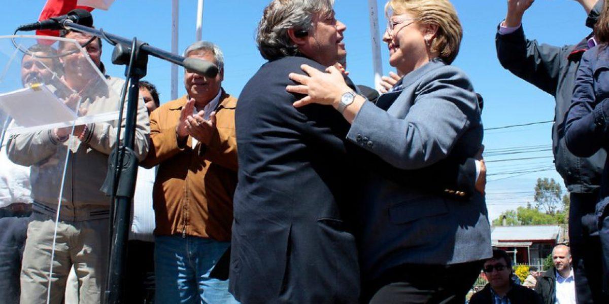 [FOTOS] Visita de Bachelet a San Pedro de la Paz incluyó baile con Navarro y Escalona