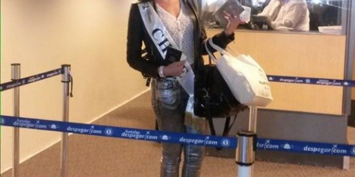 María Jesús Matthei viajó con 7 maletas al Miss Universo en Rusia