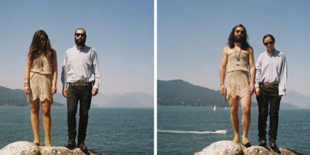 [FOTOS] La moda Switcheroo: Parejas que se fotografían con sus ropas cambiadas
