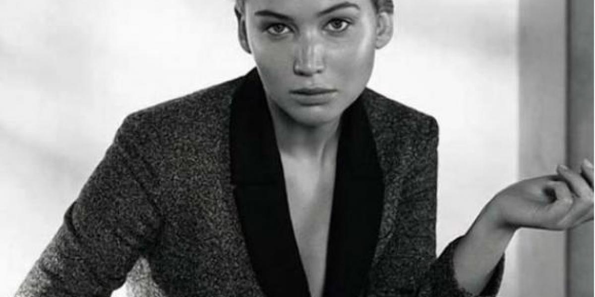 Jennifer Lawrence muestra su lado más sexy y masculino en revista Dior