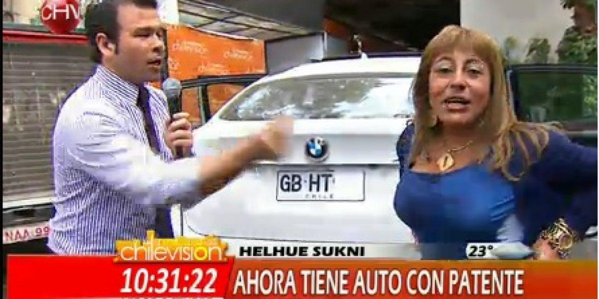 Polémica abogada Helhue Sukni muestra su auto con patente tras ser detenida