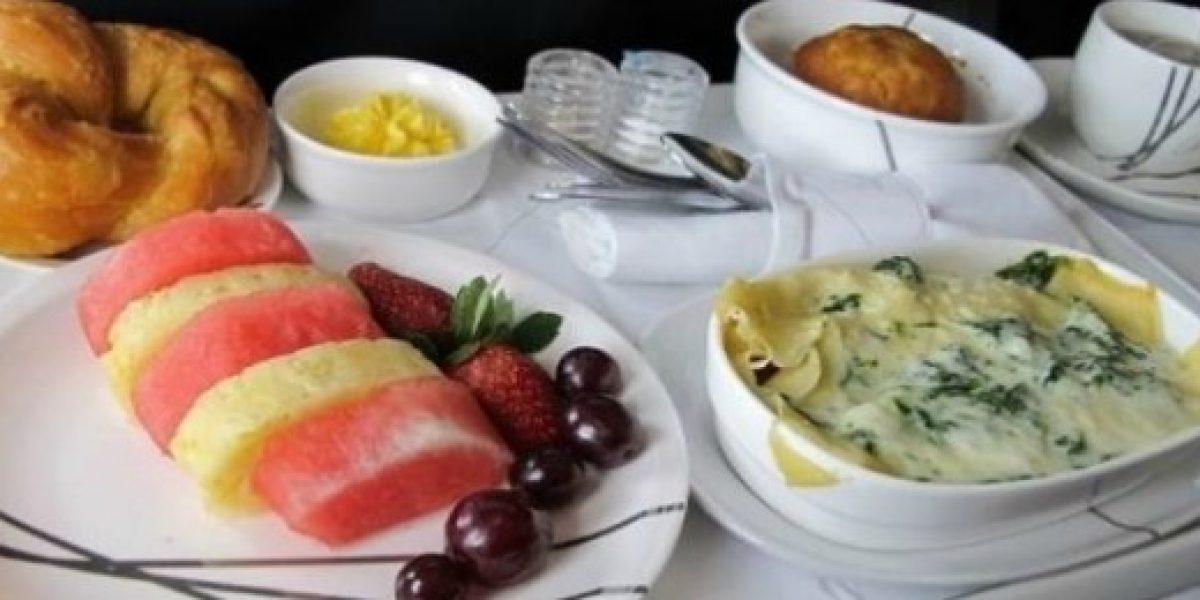 Galería: estas son las mejores comidas de avión