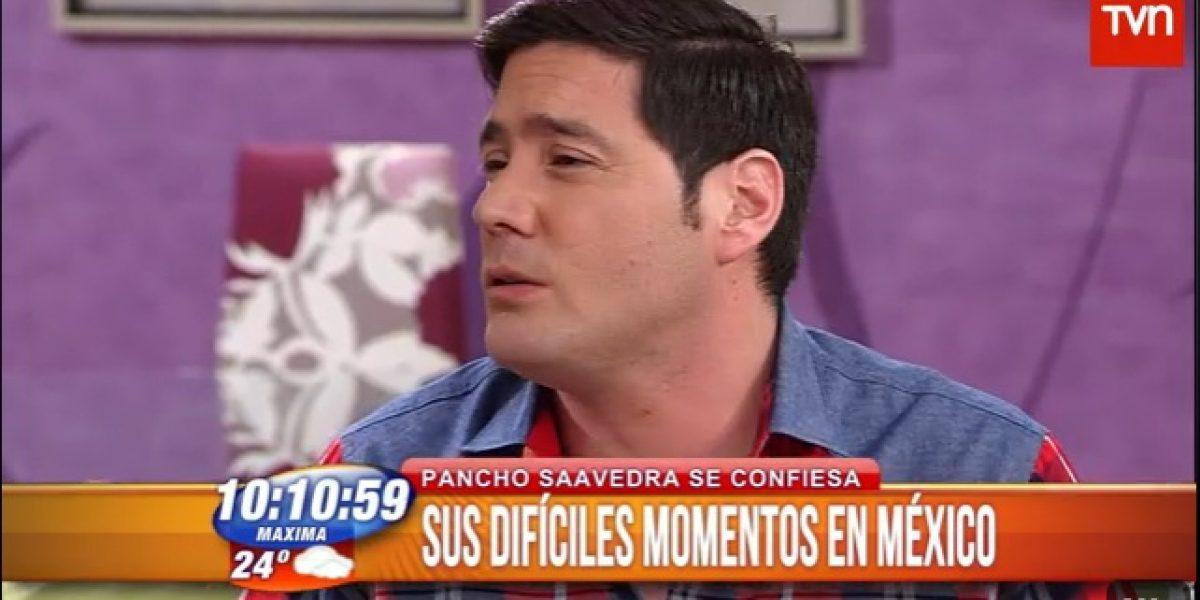 Pancho Saavedra cuenta su experiencia al ser retenido en México: