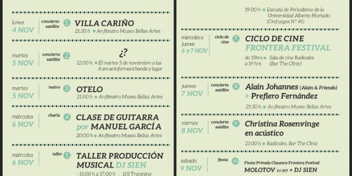 Festival Frontera anuncia: Actividades Satélites