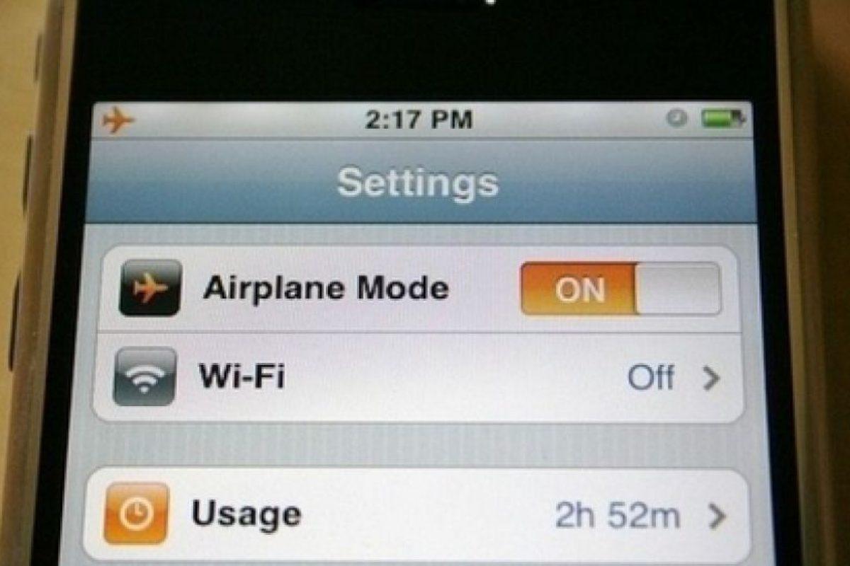 Si pones tu teléfono en modo de vuelo se cargará mucho más rápido.. Imagen Por: