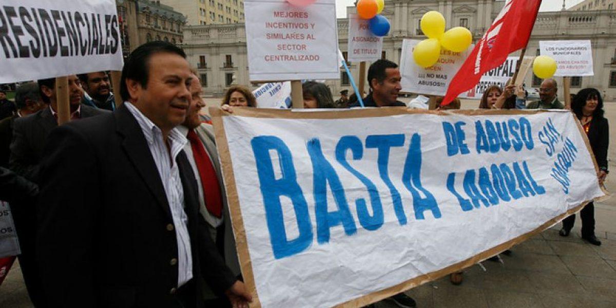 GALERÍA: Así protestaron los funcionarios municipales a lo largo de todo el país