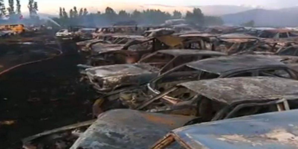 Galería: Se queman más de cien autos en un corral municipal