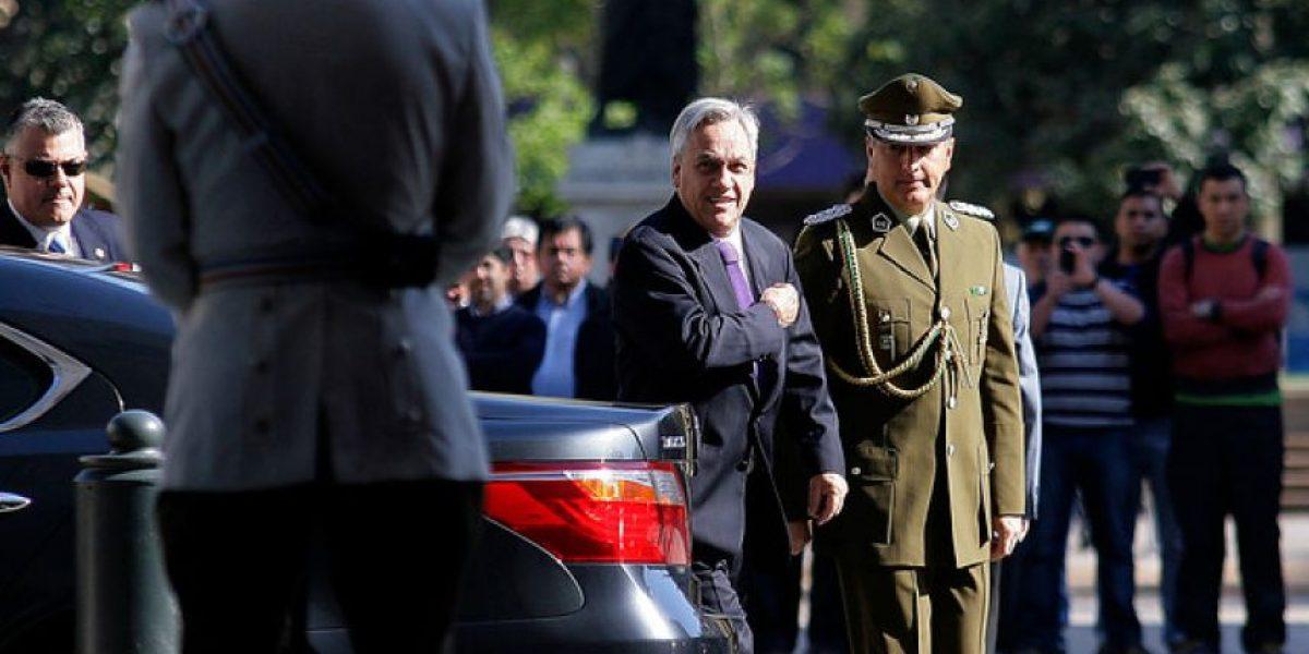 FOTOS: Piñera recibe una visita sorpresa en La Moneda