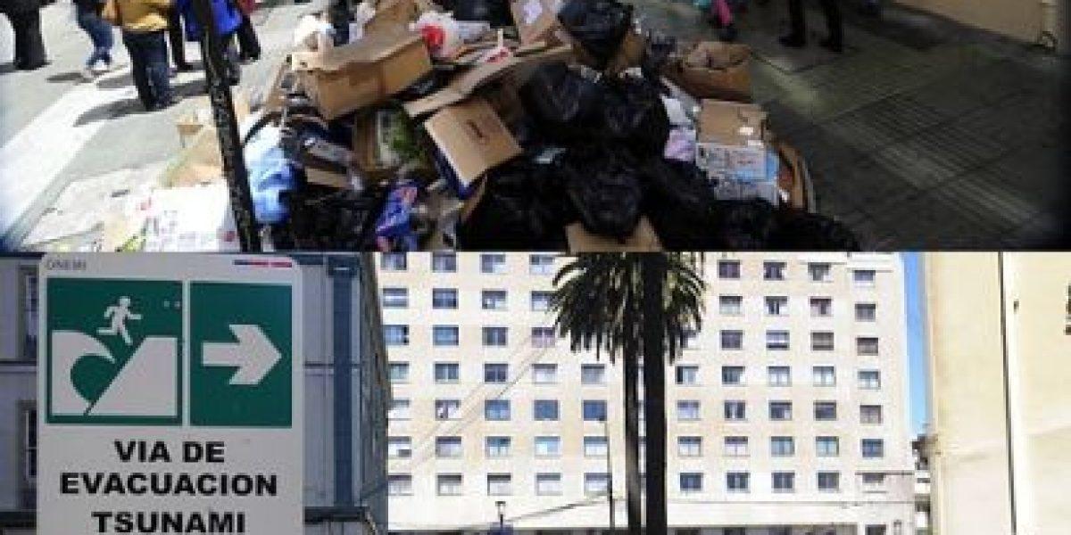 Galería: Valparaíso antes y después tras la recolección de basura
