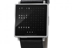 Un reloj que te indica la hora con palabras.. Imagen Por: