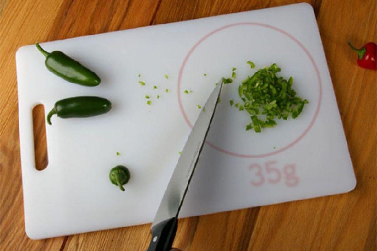 Una tabla que te indica la cantidad que cortas.. Imagen Por: