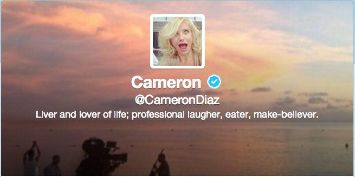 Cameron Díaz aterriza en Twitter divertida y pisando fuerte