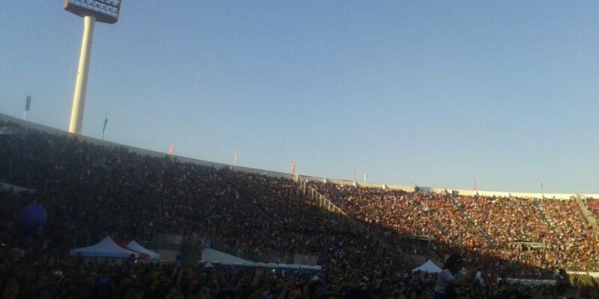 Así está el interior del Estadio Nacional a la espera de Justin Bieber