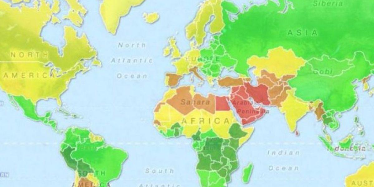 [GALERÍA] El mapa que muestra la seducción en el mundo