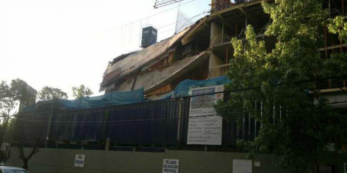 [FOTOS] Edificio en construcción colapsa en Vitacura y sufre derrumbe