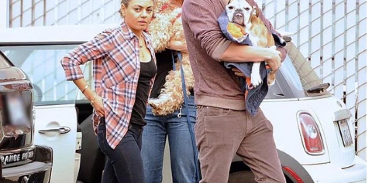 Fotos: Ashton Kutcher lleva a su perro para que lo duerman