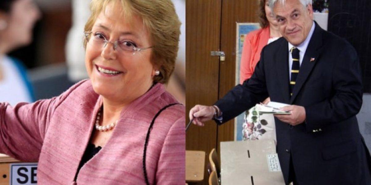 Elecciones 2013: Bachelet vota a la misma hora que Piñera