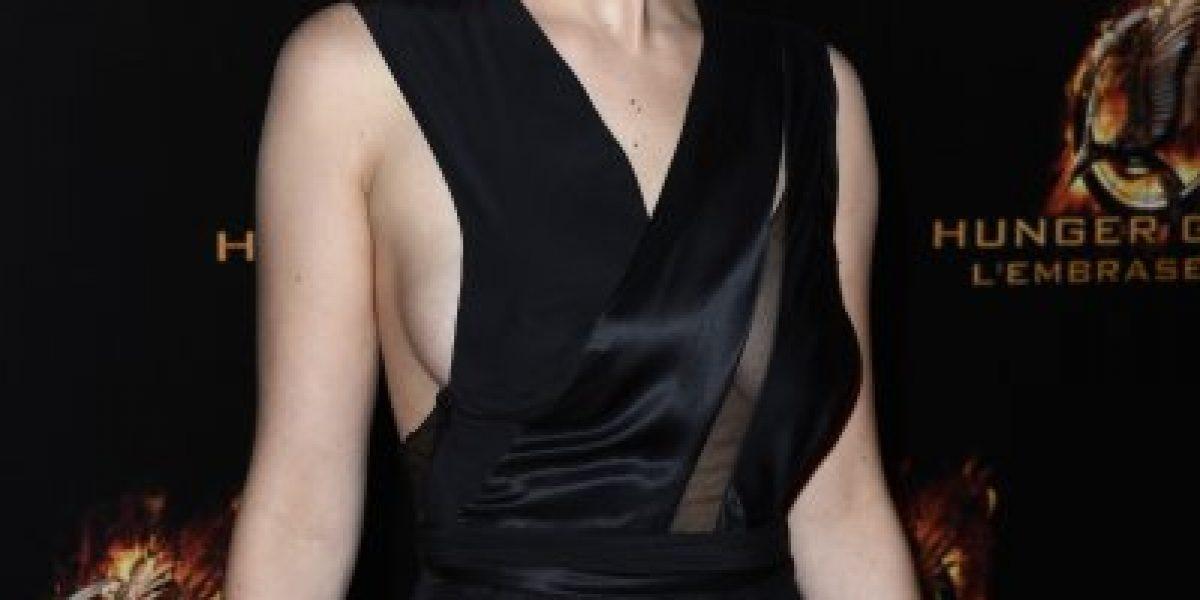 El revelador vestido de Jennifer Lawrence casi le hace pasar un bochorno