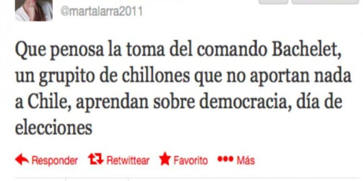 Marta Larraechea molesta por toma de comando de Bachelet: Son