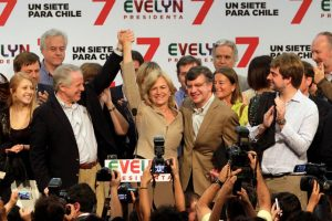 """""""Sí se puede"""". Evelyn Matthei, candidata por la presidencia. Foto:Agencia Uno. Imagen Por:"""
