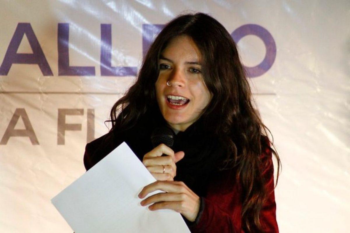 """""""Chile ha cambiado y así lo entendemos como Nueva Mayoría"""". Camila Vallejo.. Imagen Por:"""
