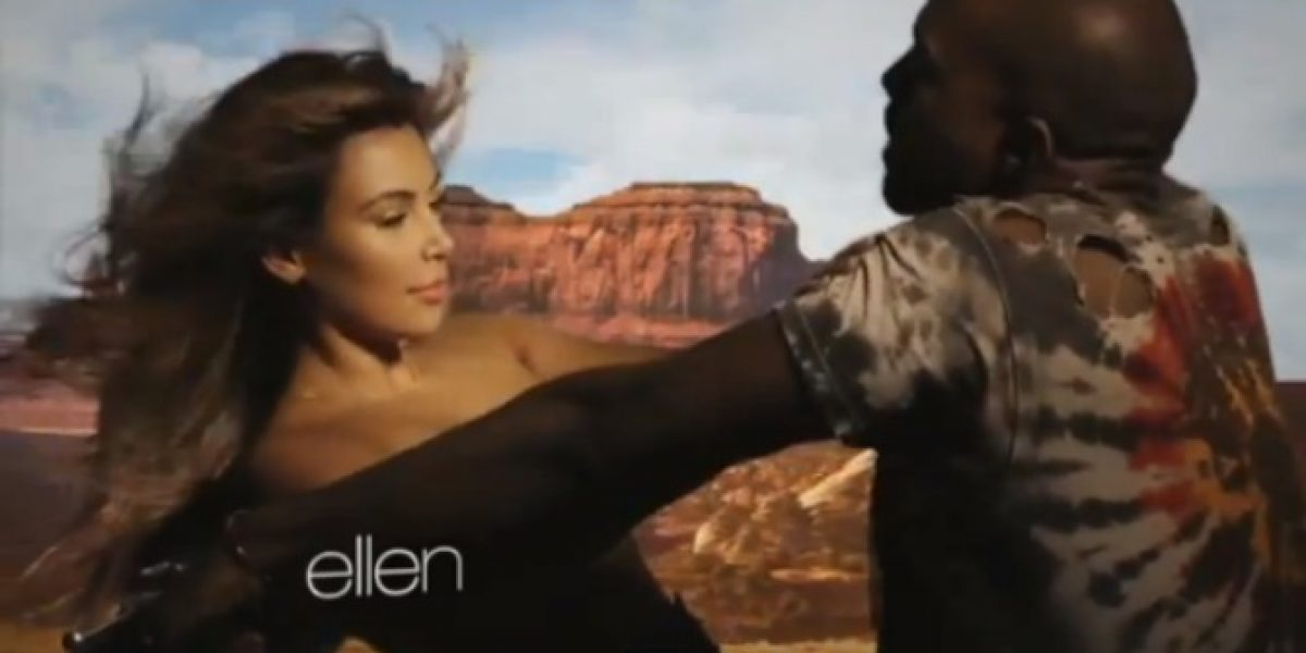 Kim Kardashian simula tener sexo con Kanye West en su nuevo video