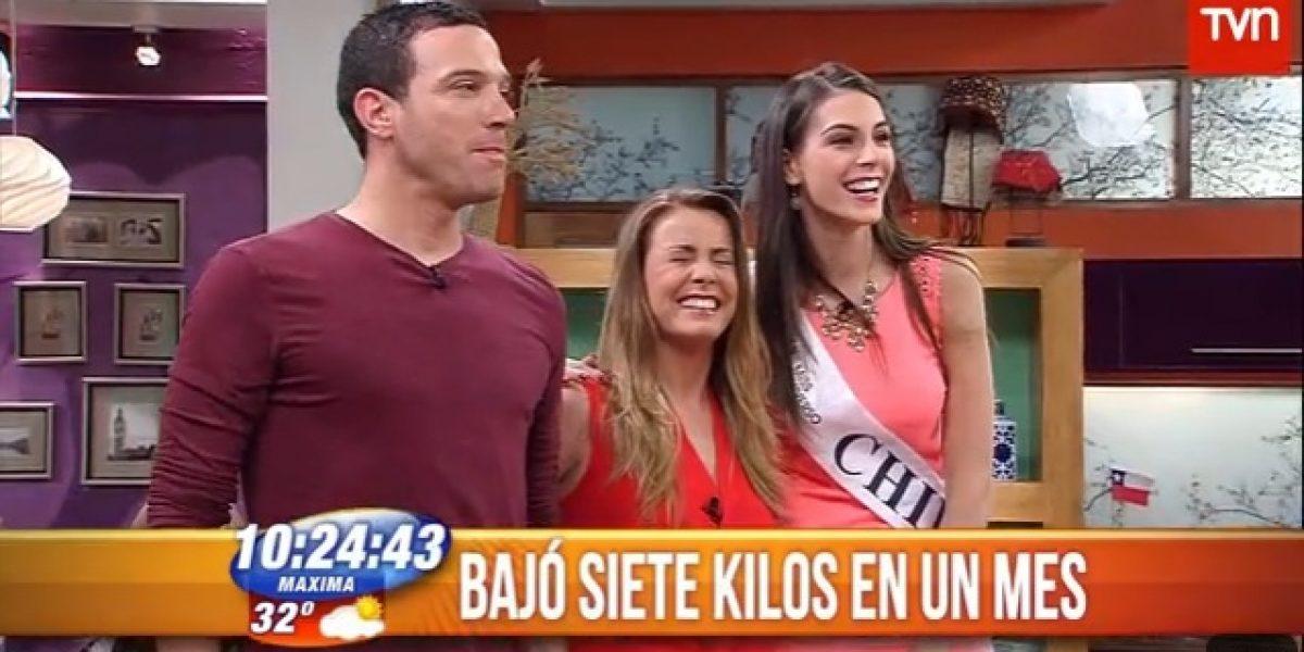 Claudia Conserva sufrió con la altura de la Miss Chile