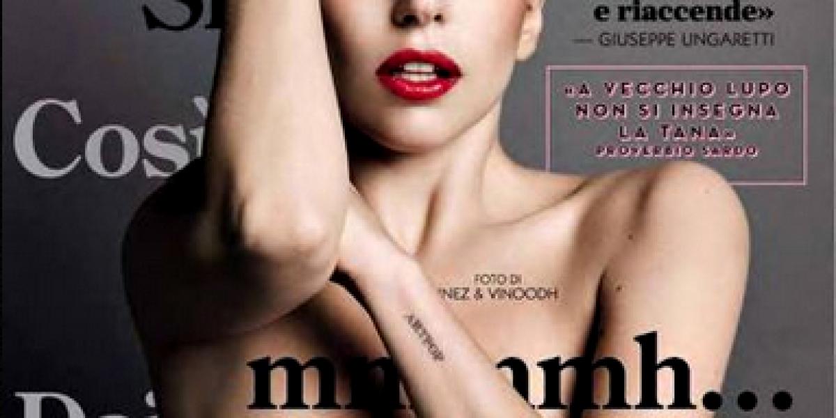 Lady Gaga se desnuda para la portada de revista GQ