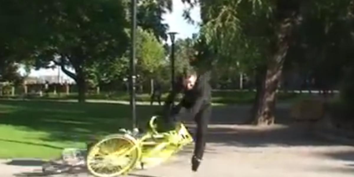 El casco invisible contra automovilistas