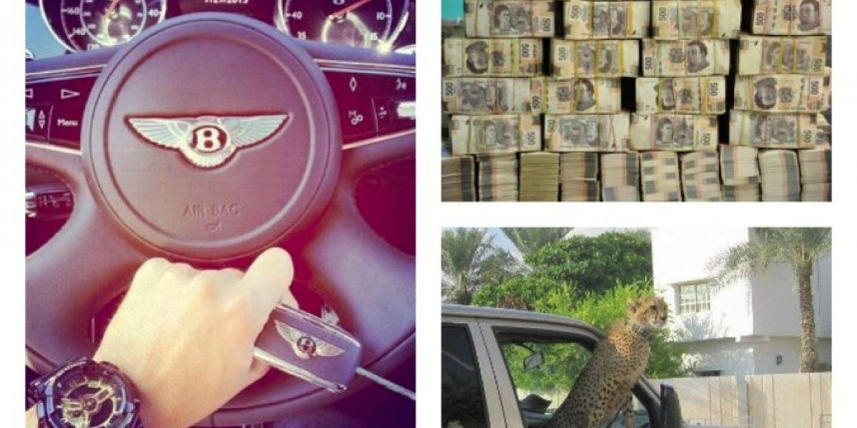 [FOTOS] Las excentricidades que el hijo de un narco publicaba en las redes sociales