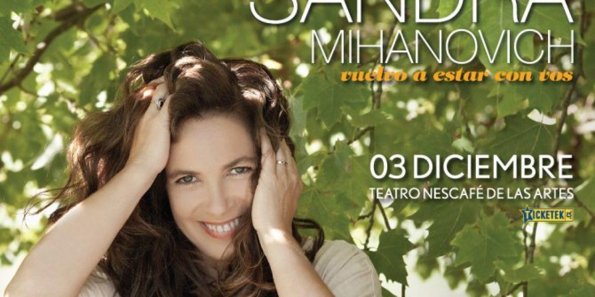 Sandra Mihanovich reagenda show en Chile