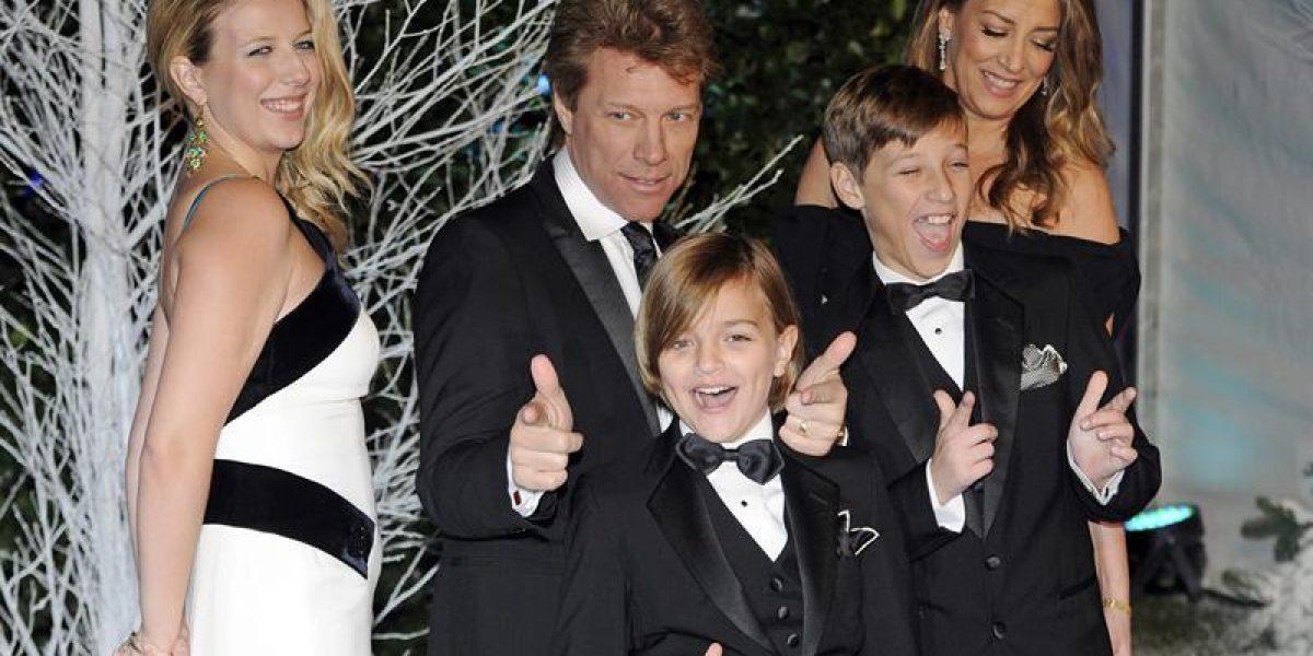 Jon Bon Jovi llega con toda su familia a Gala benéfica en Londres