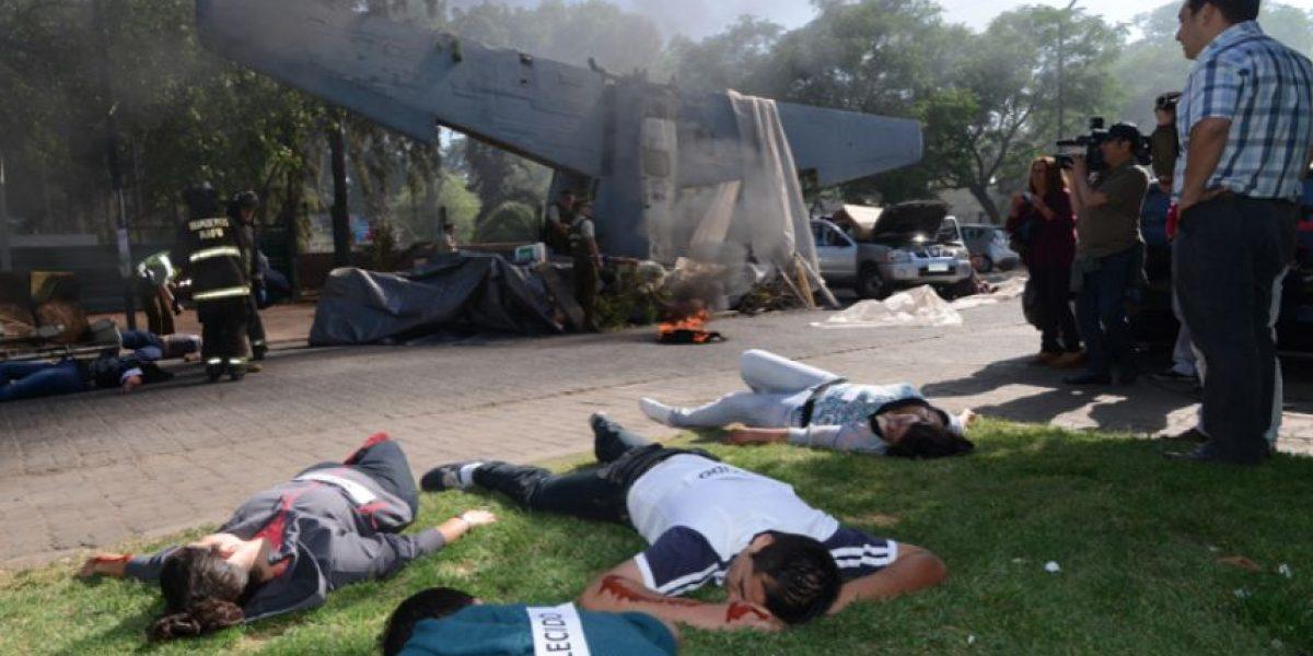 Fotos: Inédito simulacro de un accidente aéreo se realizó en Maipú