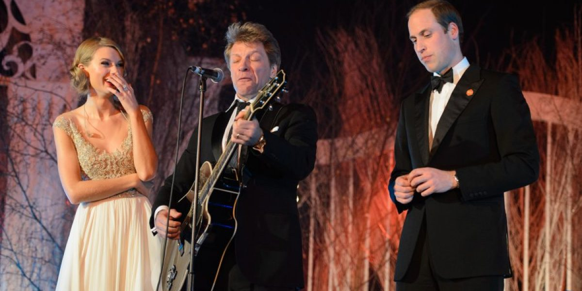 El príncipe Guillermo canta con Bon Jovi y Taylor Swift