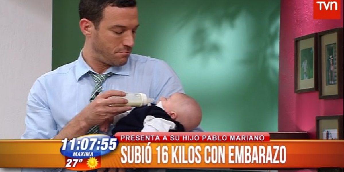 Belén Hidalgo presentó a su hijo en BDAT